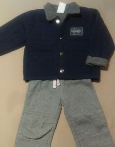 Jeans wear jacket and Carter's fleece pants